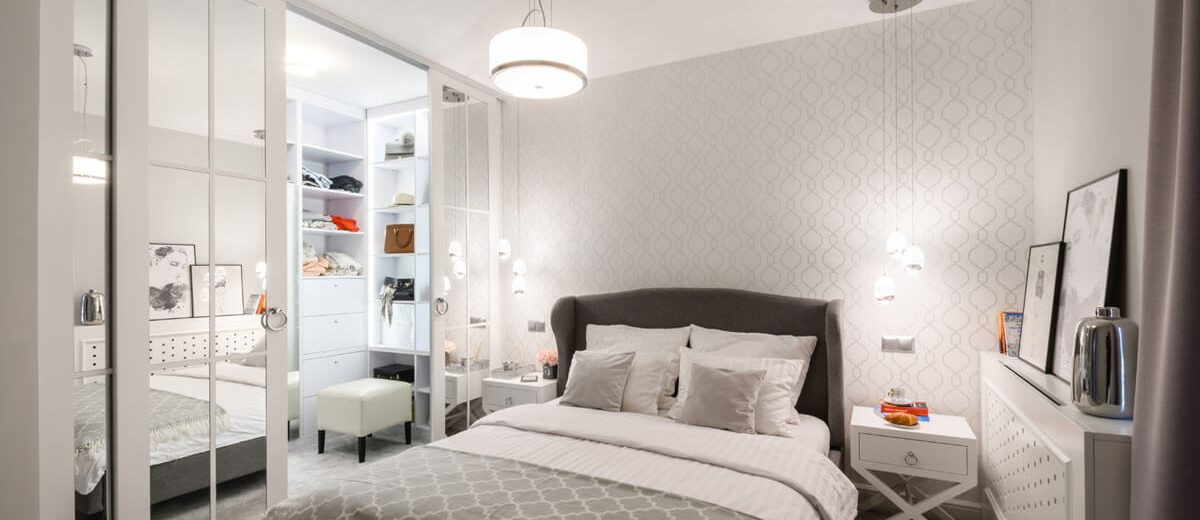 Sypialnia z garderobą | proj. Duet Studio