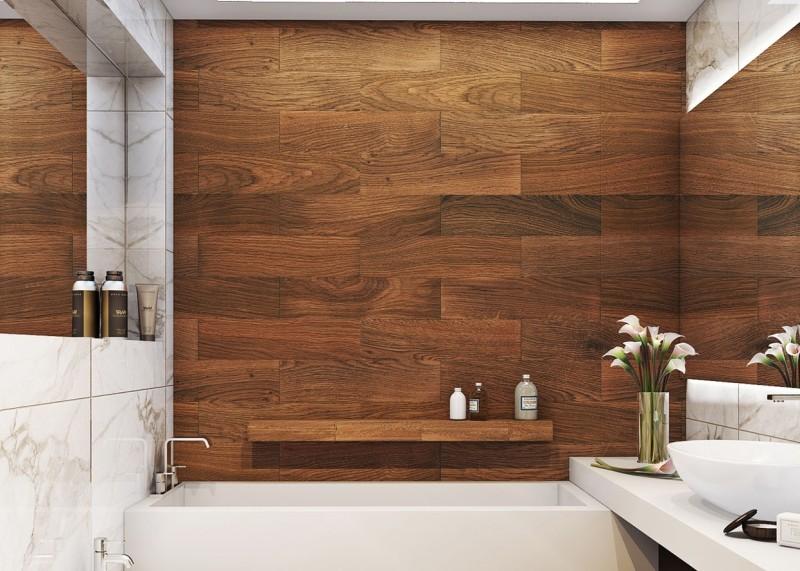8 Pomysłów Na łazienkę W Płytkach Drewnopodobnych Jak
