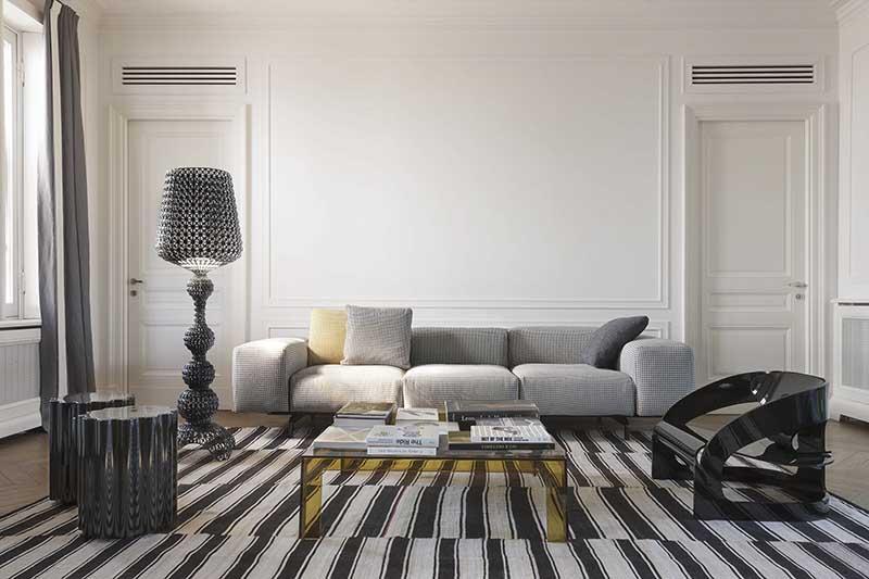 Sofa Kartell Largo dostępna w różnych tkaninach w Internity Home