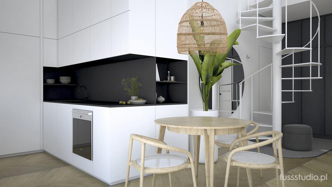 Projekt Mieszkania Z Poddaszem Proj Fuss Studio Ih