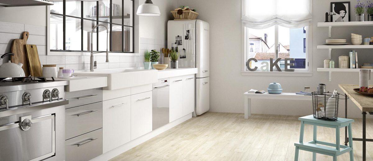 Marazzi treverkway drewnopodobne płytki do kuchni