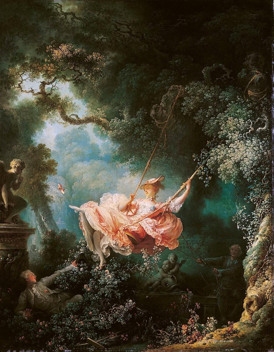 "Obraz z 1767 roku - ,,The Swing"""