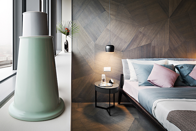 Drewno na podłodze i ścianie od włoska marki Listone Giordano