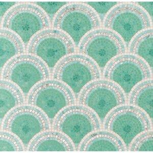 Płytki Bisazza kolekcja Mozaiki DECORI LOOP GREEN