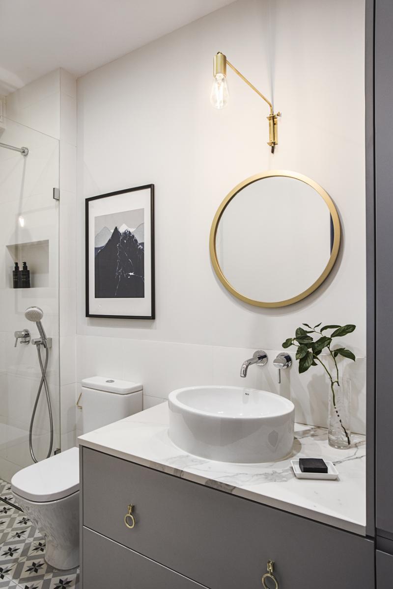 Mała łazienka | proj. OIKOI