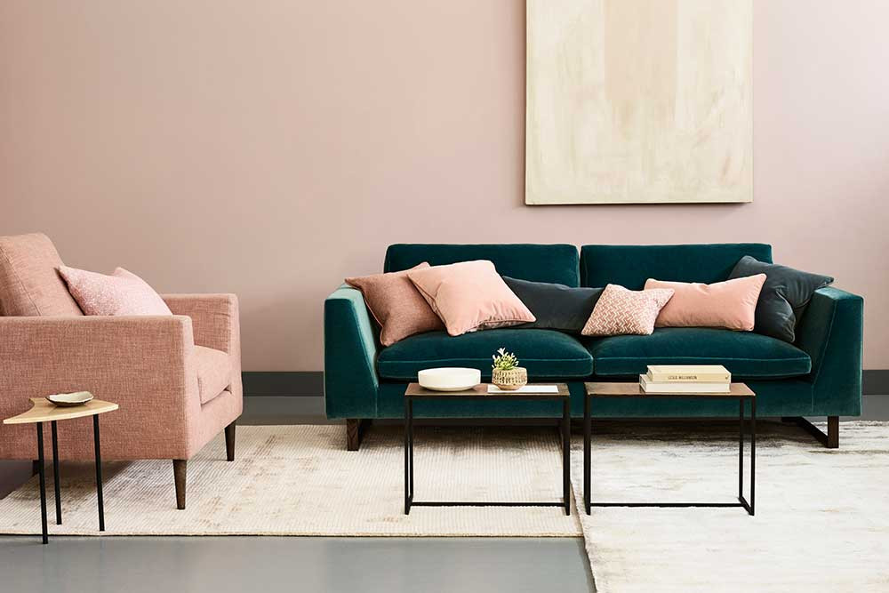 welurowa sofa | źródło: love-your-home.co.uk