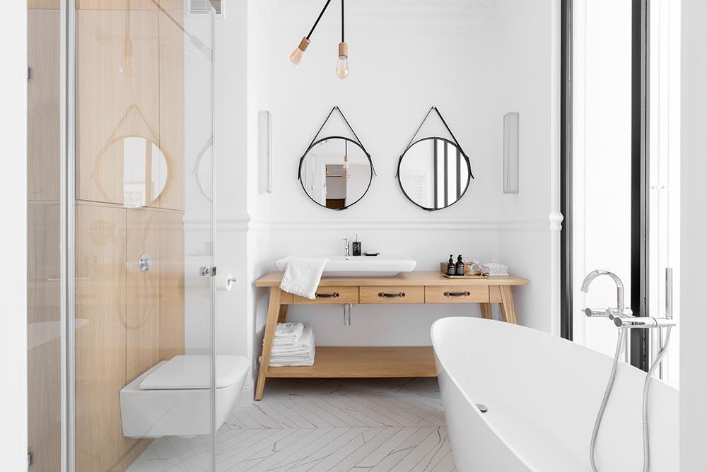 Łazienka w stylu skandynawskim | proj. Domagała Design