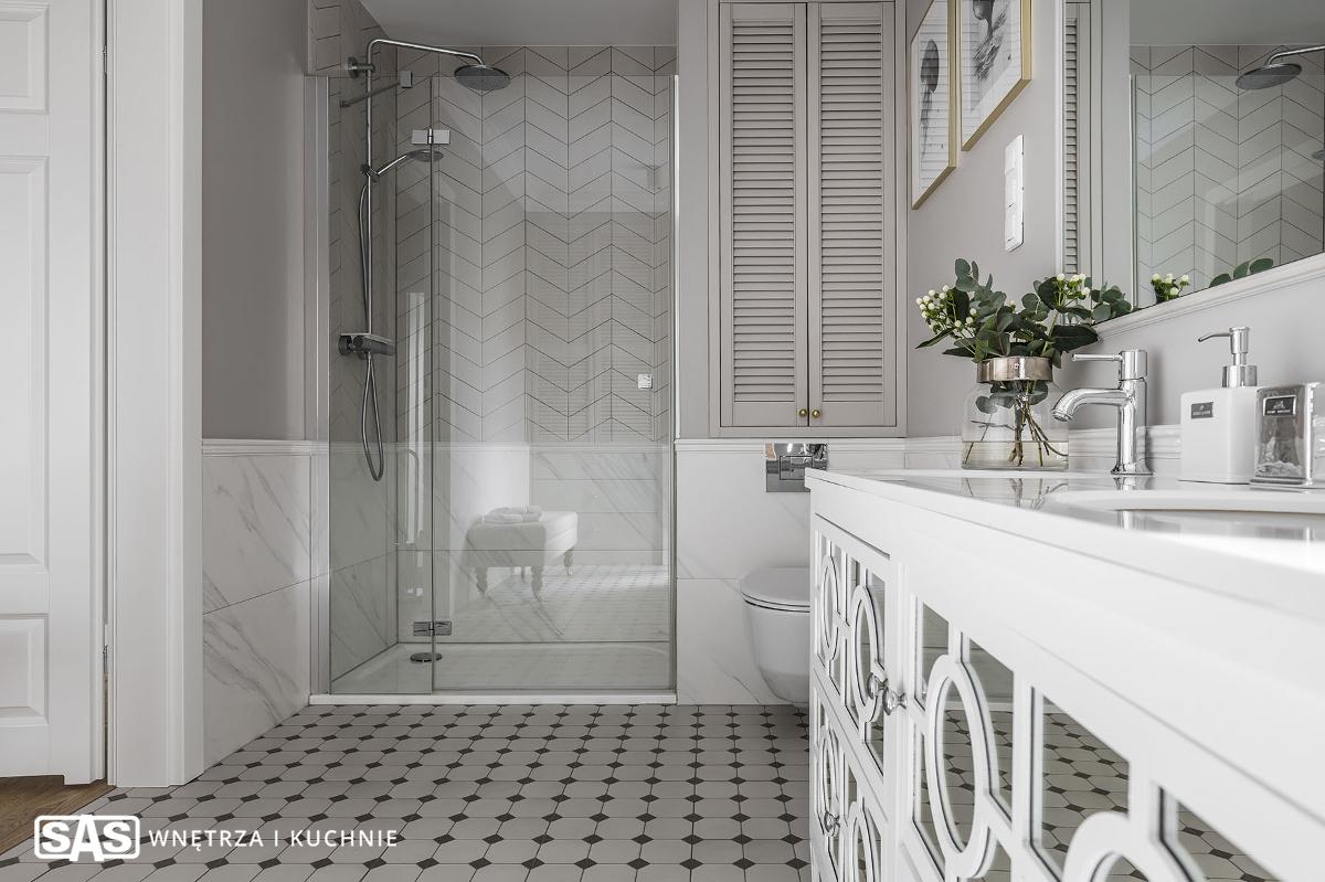 Łazienka w stylu hampton | proj. SAS Wnętrza i Kuchnie