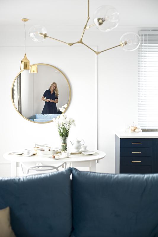 Architekt - Pani Magda - przyznaje, że lustra to jeden z jej ulubionych elementów wyposażenia wnętrz