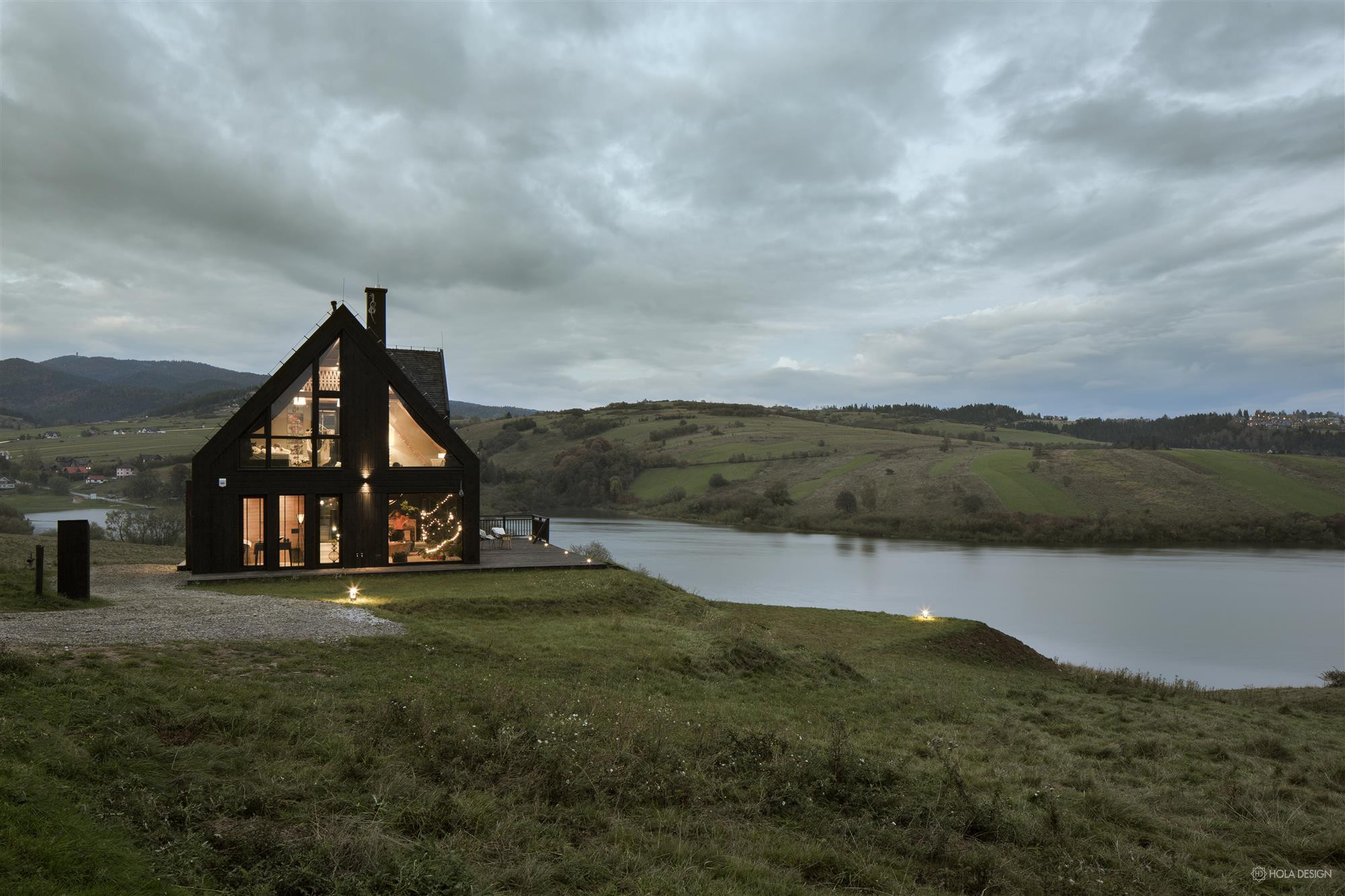 Hola Design górska chata w Pieninach