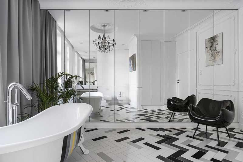 Łazienka w stylu paryskim | proj. Anna Maria Sokołowska (zdj.: Fotomohito)