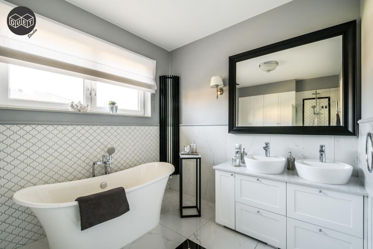 Łazienka w stylu nowojorskim | proj. Duet Studio