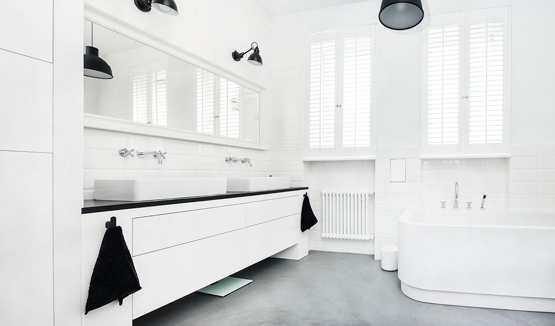 Łazienka w stylu minimalistycznym | proj. Eg Projekt