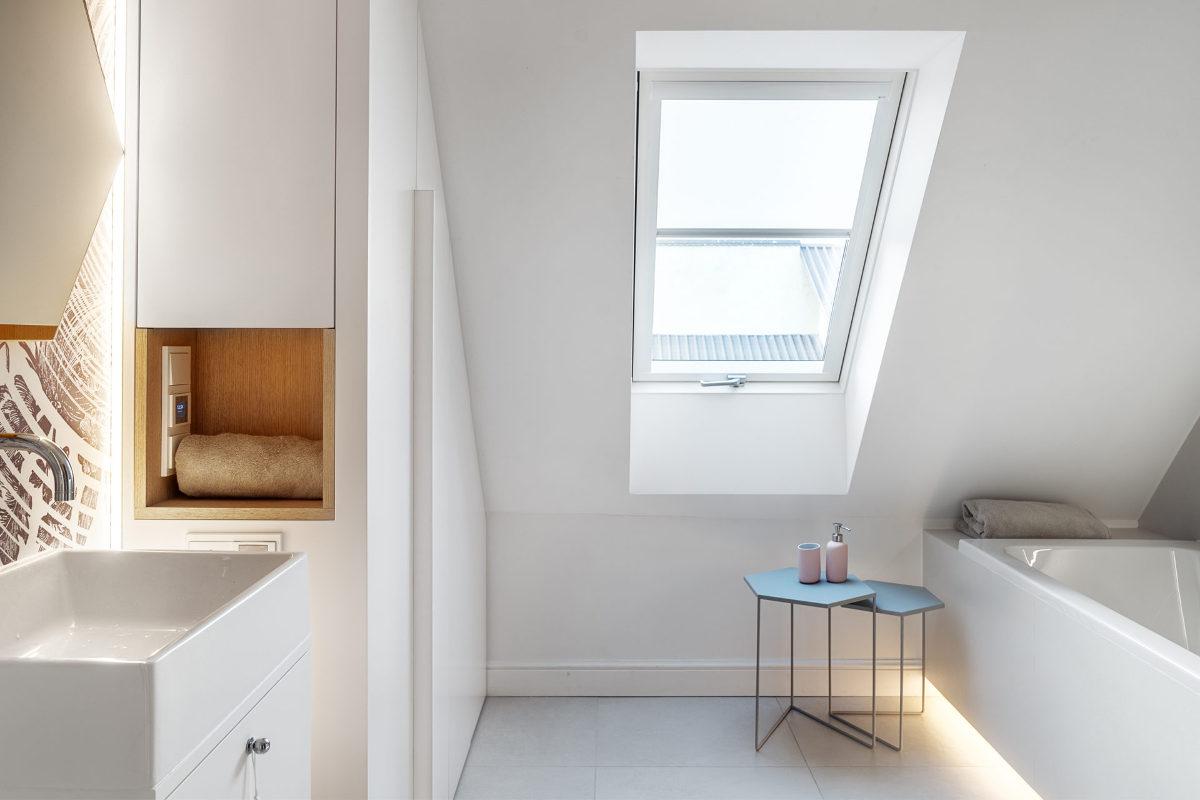 Łazienka w stylu minimalistycznym | proj. formativ