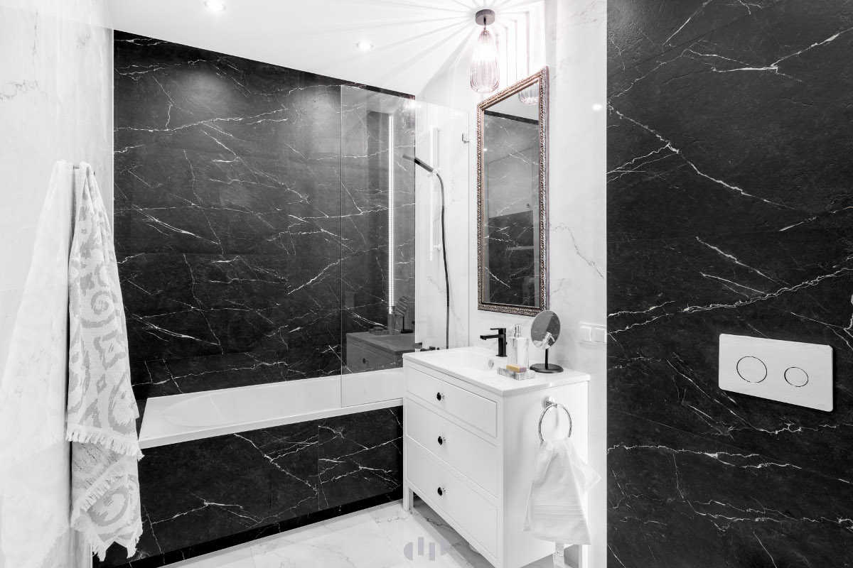 Łazienka w stylu eklektycznym | proj. Dziurdzia Projekt