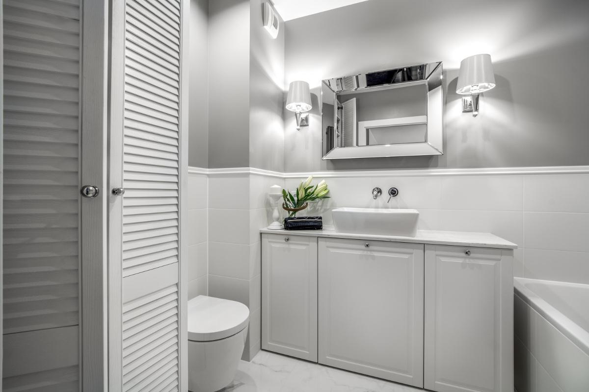 Łazienka w stylu nowojorskim | proj. M Projekty