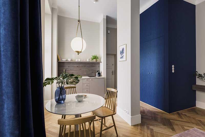 Tapeta marki Omexco z linii Horizons w projekcie biura architektonicznego lummo.