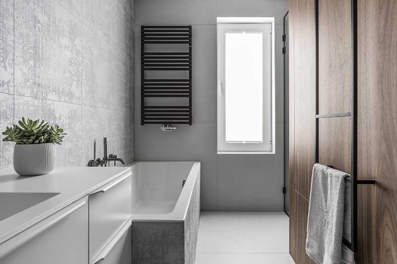 Łazienka w stylu nowoczesnym | proj. SMart Studio Projektowe (zdj.: Fotomohito)