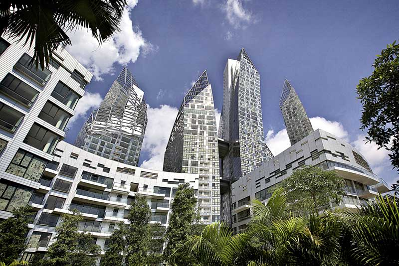 Reflections at Keppel Bay (Singapur), proj. Daniel Libeskind, źródło: www.libeskind.com