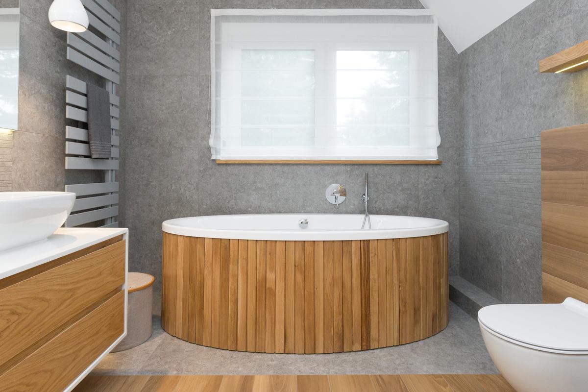 Biało Drewnianana łazienka Czy Szaro Drewniana Jakie Trendy