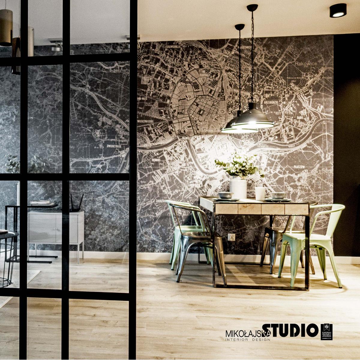 Mikołajska Studio - projekt jadalni z kcuhnią