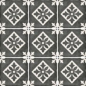 Płytki Equipe kolekcja Art Nouveau seria Padua Black