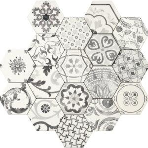 Płytki Tonalite kolekcja Examatt seria Decoro Mix Bianco Matt