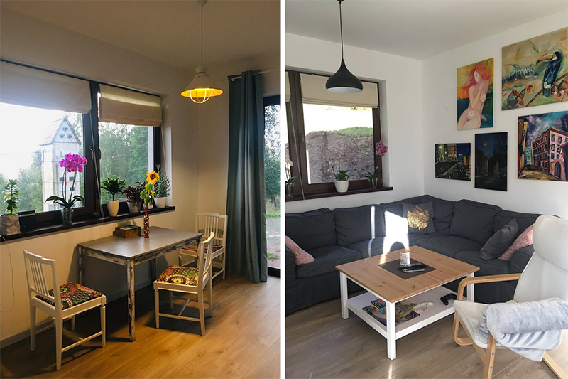Jadalnia i salon w domu Pani Agaty