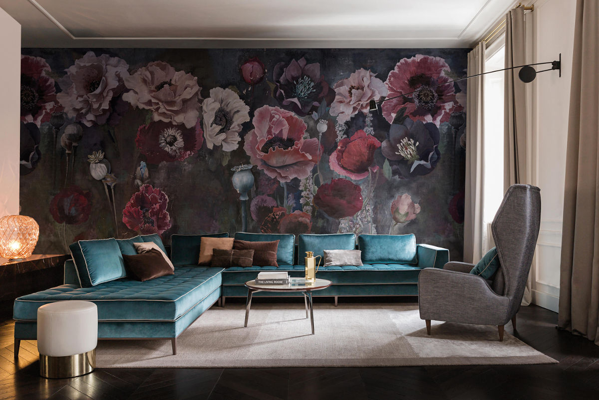 Tapeta Pavot marki Wall & Deco jest dostępna w naszych showroomach