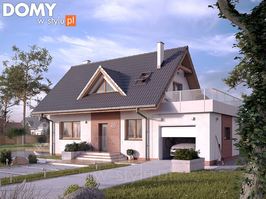 """Projekt domu ,,BEZ 2"""" 85 m2 (Projekt: DOMY w Stylu autorstwa Biura Projektowego MTM STYL)"""