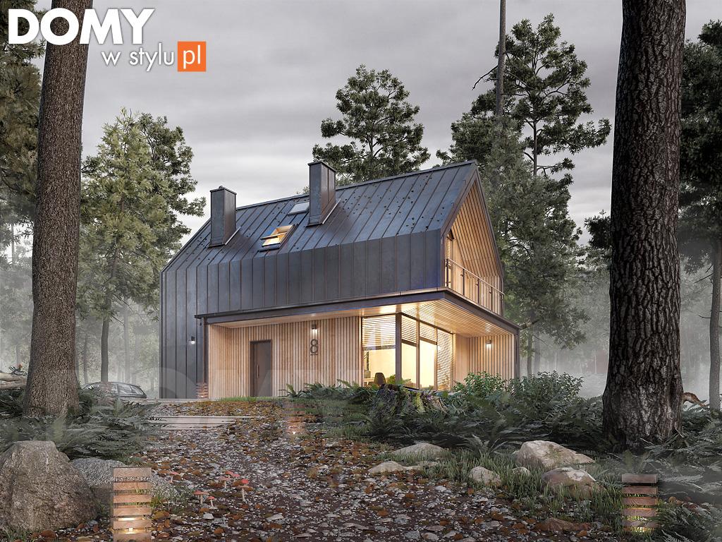"""Projekt domu ,,Malutki DR-S"""" 89 m2 (Projekt: DOMY w Stylu autorstwa Biura Projektowego MTM STYL)"""