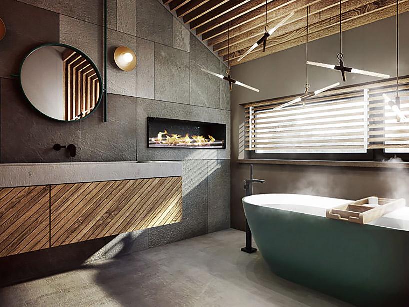 Projekt łazienki na poddaszu Razzo Architekci