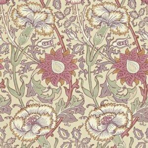Tkanina by Morris & Co. Pink & Rose