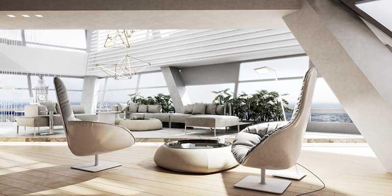 Złota 44 Penthouse na sprzedaż | proj. Mokaa