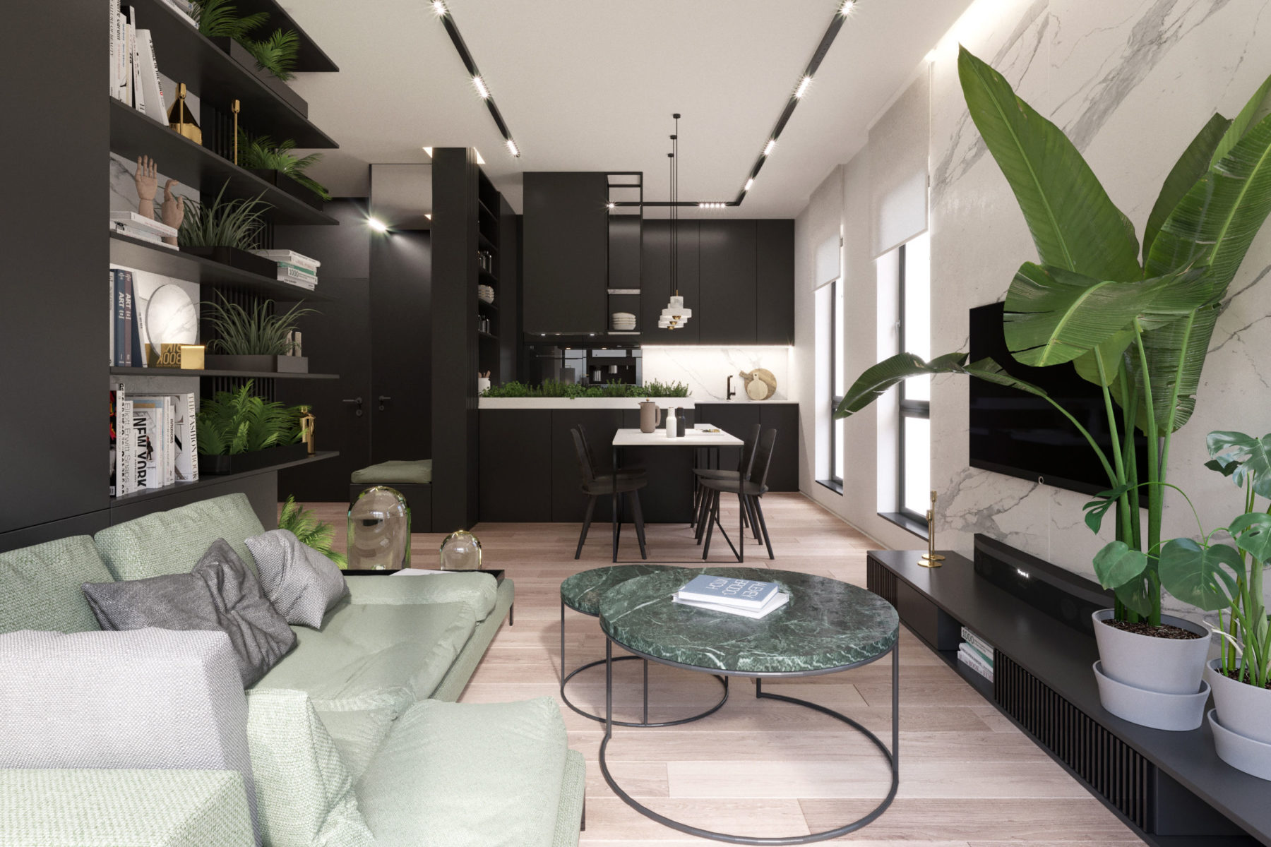 Apartament w garniturze