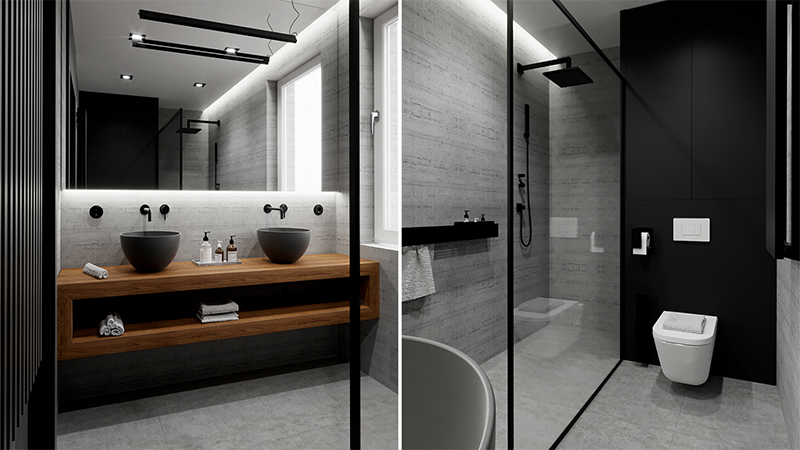 Line Design projekt domu | Ceramika Hushlab dostępna w Internity Home i Prodesigne