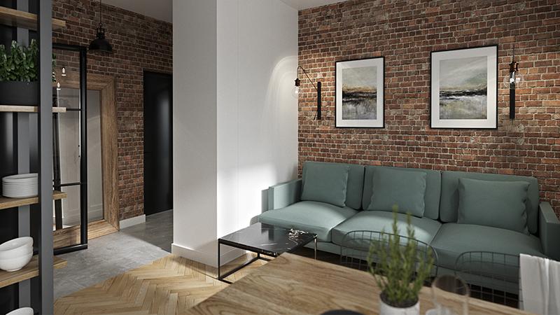 Mieszkanie w kamienicy Line Design architekt Warszawa