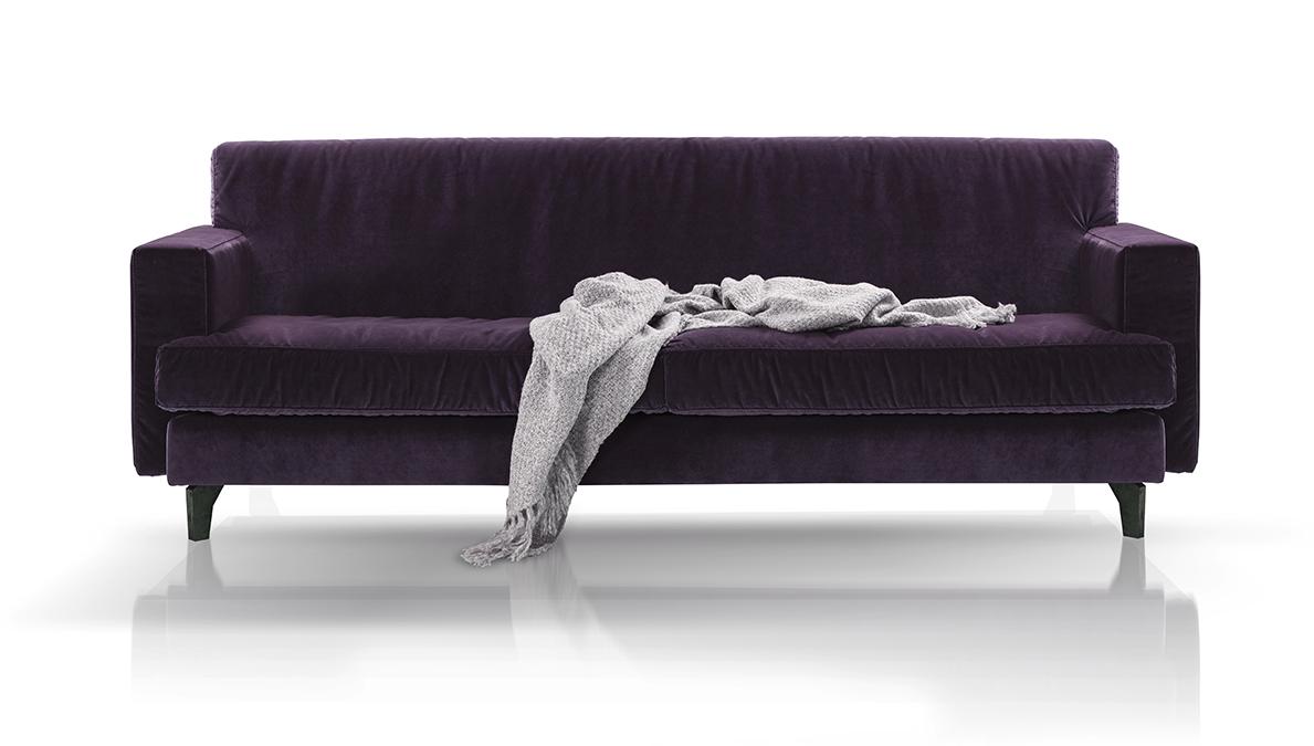 Sofa Rio marki Inspirium (tkanina Glam Velvet 26)