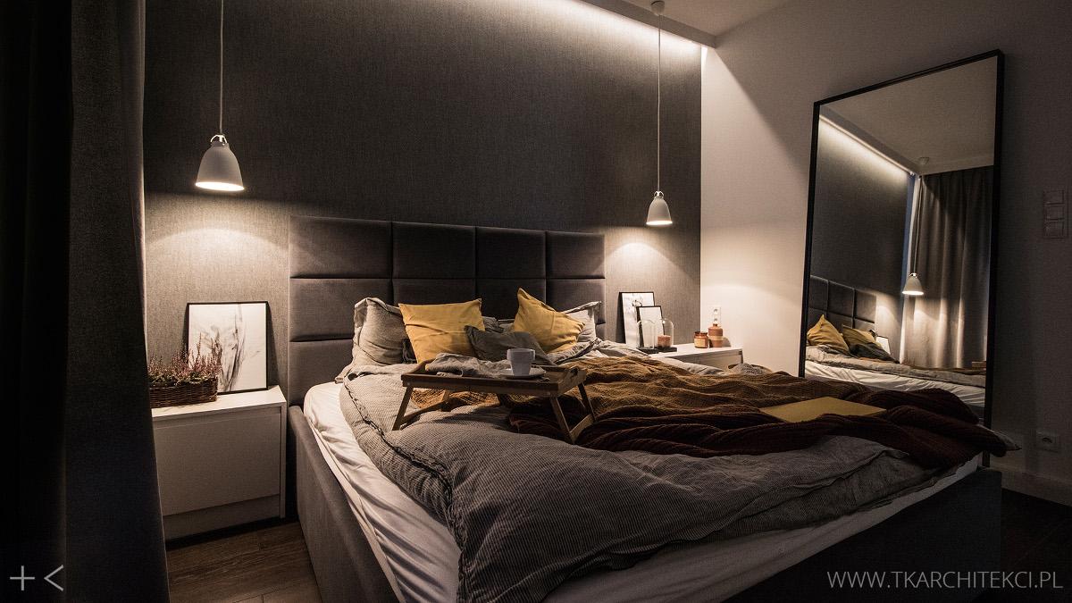 projekt sypialni TK Architekci