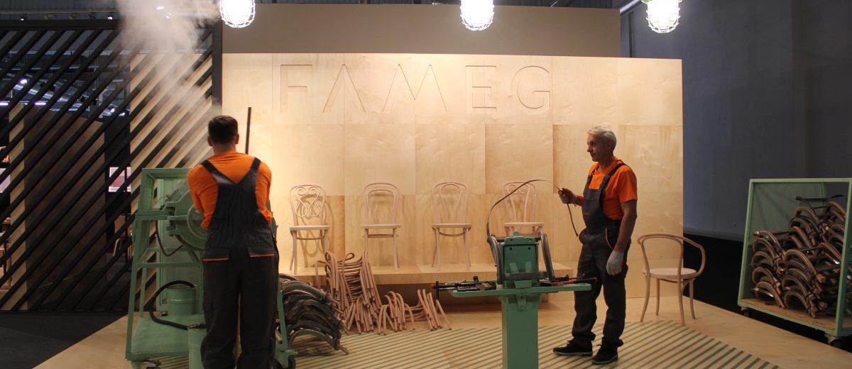 Warsaw Home - proces gięcia drewna zaprezentowany przez Fameg