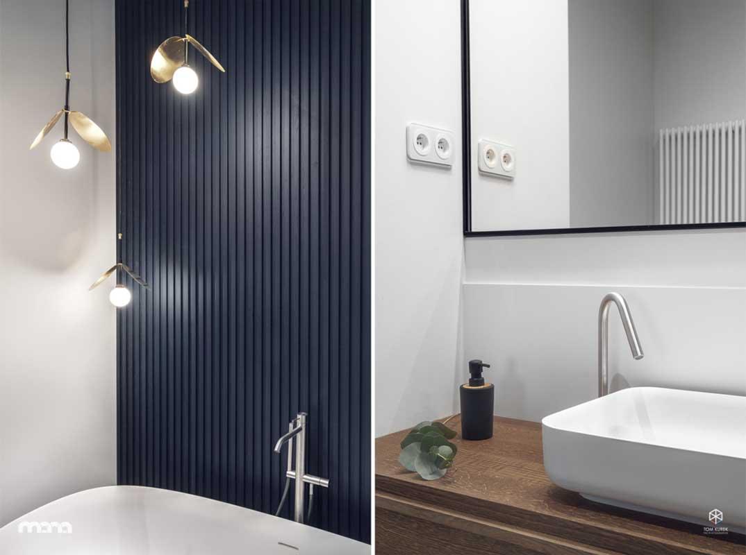 Niebieska łazienka | proj. Mana Design