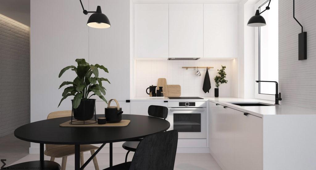 Nowoczesna minimalistyczna kuchnia | Projekt Elementy