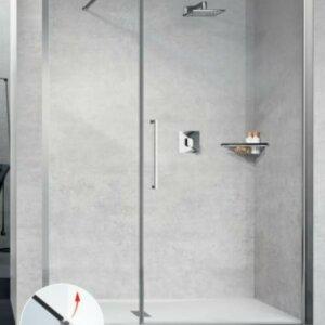 Drzwi prysznicowe Novellini Young 2.0 ze ścianką