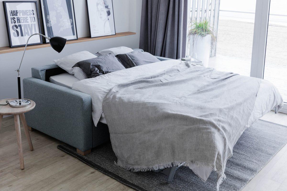 Sofa z funkcją spania Tucson polskiej marki Sits (możesz ją kupić w naszych showroomach)