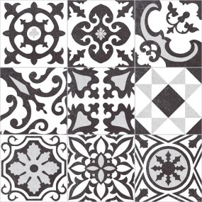 Płytka gresowa IH Selection A139773 Biało-czarny 59.6X59.6