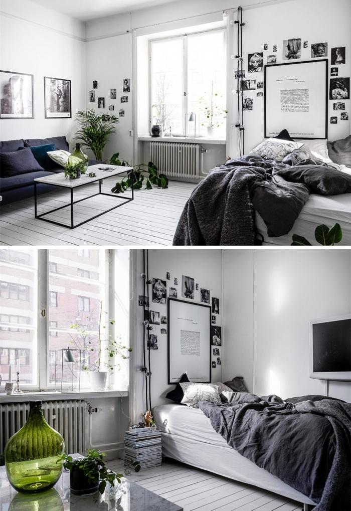 Salon i sypialnia w jednym jako integralna całość