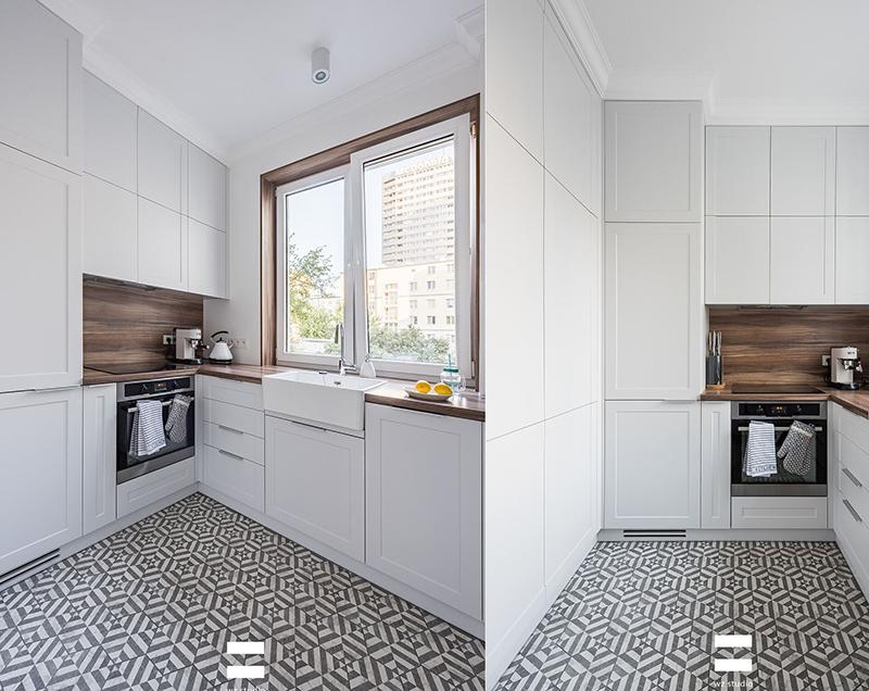Projekt kuchni W-Z Studio | Podłoga płytki Marazzi dostępne w Internity Home