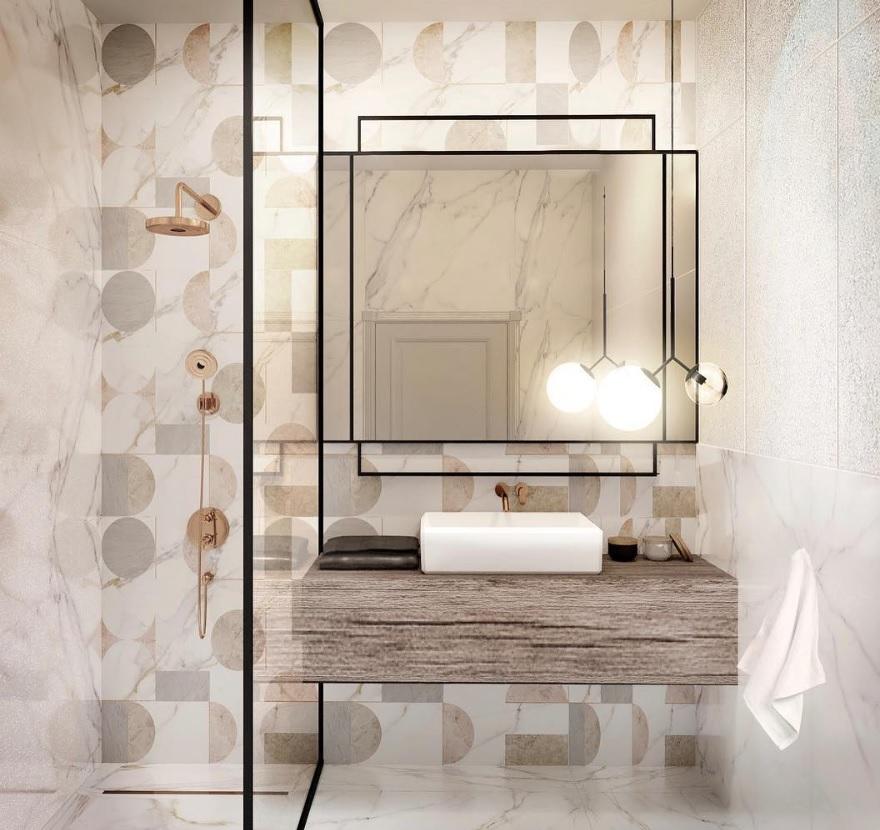Projekt łazienki Loft Factory | Płytki Ornamenta