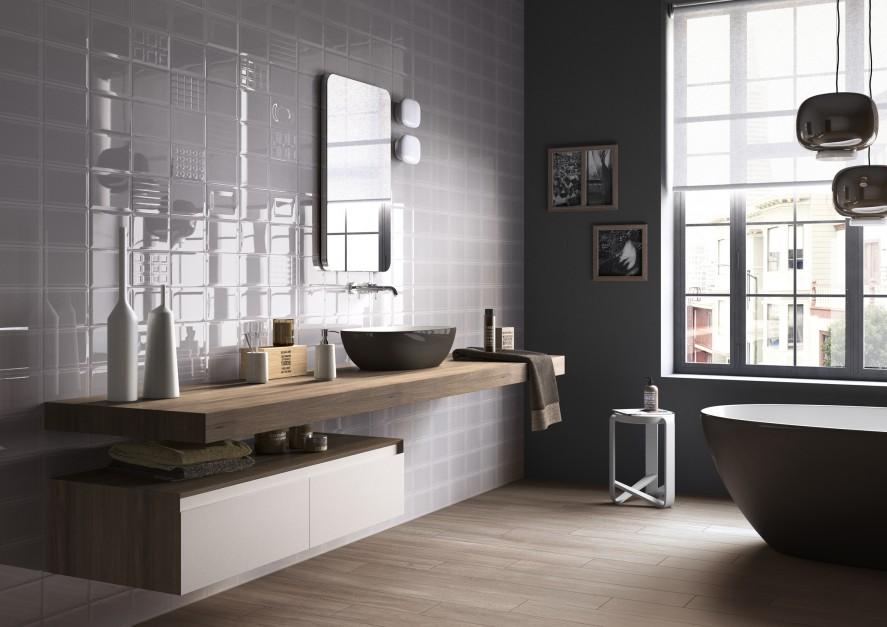 Propozycja łazienki w stylu organicznym marki Imola