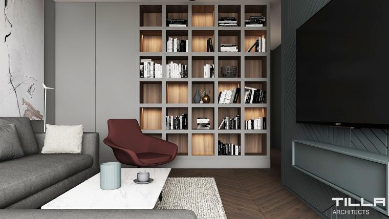 Tilla Architects Apartament 80m2 w Warszawie